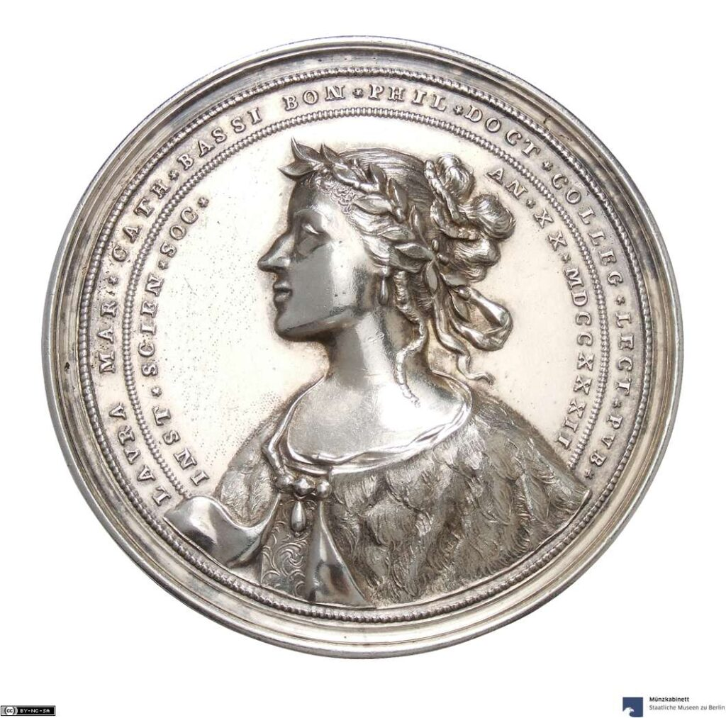 Münzkabinett, staatliche Museen zu Berlin, Silbermedaille von 1732