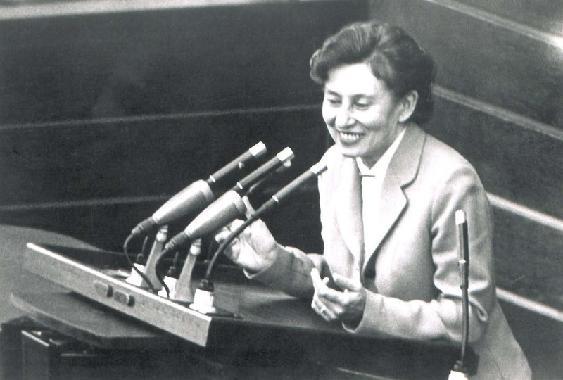Elisabeth Schwarzhaupt im Bundestag